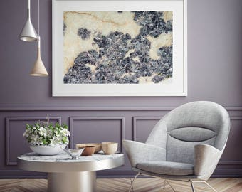 Mineral Photography - (Print # 087)   - Lepidolite Slab  -  Fine Art Print - Two Paper Choices- Mineral Geode Agate Crystal Decor