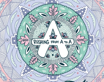 Rushing From A to A - A6 24 page self-published mini comic