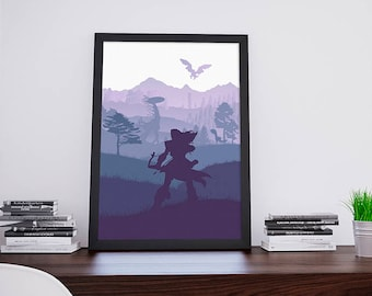 NEW Horizon Zero Dawn inspired Poster: A2 video game poster
