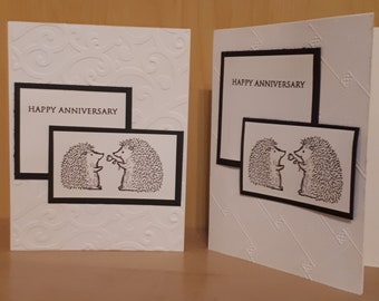 Cute Hedgehog Anniversary Card