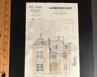 1914 French Receipt