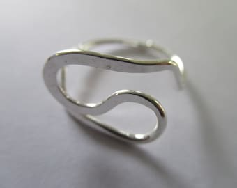 Sterling Silver Wire Rings Size 6