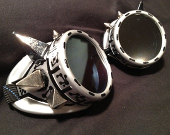 cyber goggles G241 silver chrome and black