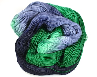 Blue Mountain--hand dyed sock yarn, BFL and nylon, (464yds/100gm)