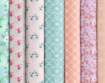 Fabric Collection, Choose any ONE YARD or 4 fat quarters, 'Cottage in the Woods' / Choose Fabric Type. Ships from USA. Free Ship Worldwide