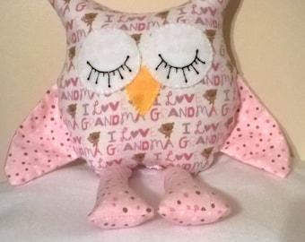 Stuffed Grandma Owl / Stuffed animal owl / Owl gifts / Grandma gifts / Unique Valentine Gifts