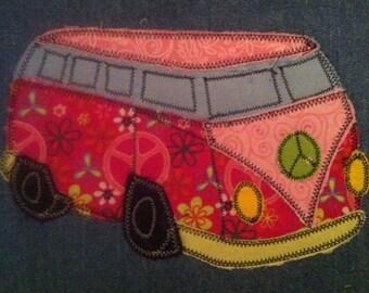 Peace Bus Applique