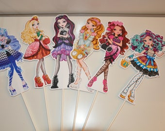 Ever After High Large Centerpiece toppers sets of 6