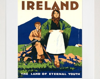 Ireland Art Print Travel Poster Irish Home Decor (ZT264)