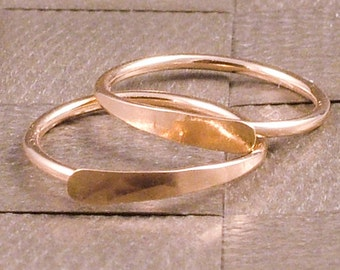 Rose Gold Hoop Earrings / Gold Sleeper Hoops / Small Gold Hoops / Half Inch / Classic Little Everyday Also in Yellow Gold