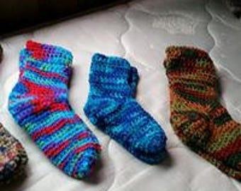 slippers, socks