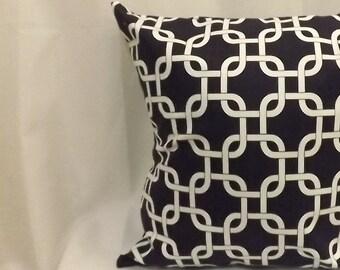 Decorative Throw Pillow, Navy Decorative Pillow Cover, Throw Pillow, Toss Pillow, 16x16, 18x18,  Accent Pillow
