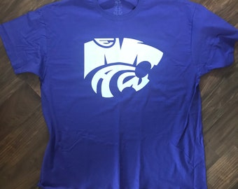 Kansas State Wildcats// Mens KState Shirt//College Shirt// Custom Logo Shirt//EMAW//Every Man A Wildcat