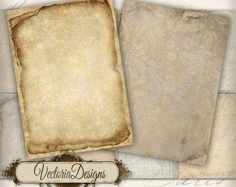 Tattered Papers ATC vintage images digital background instant download printable collage sheet VD0157