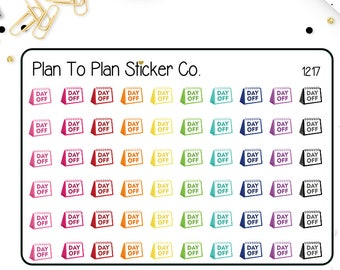 1217~~Day Off Work Trackers Planner Stickers.