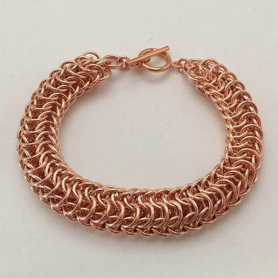 Dragonback bracelet, bright copper