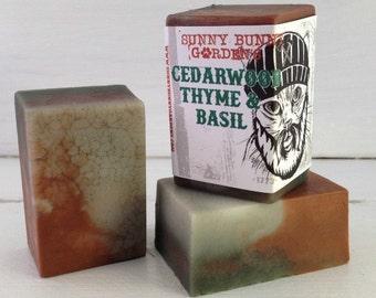 Bulk Cedarwood Soap for Men, Lumberjack Soap, Woodsy Soap For Guys, Soap, Vegan Soap For Men, Cedarwood Thyme Basil, Funny Gifts For Men