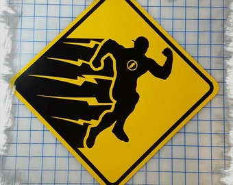 The Flash Yellow Metal Sign