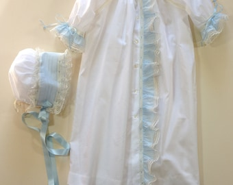 Heirloom Baby Gown with Bonnet