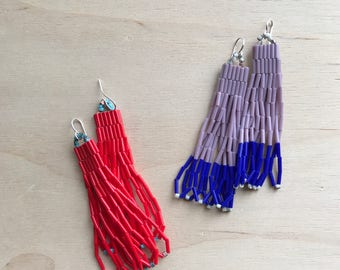 More Colors to choose Bugle Bead Bead Earrings