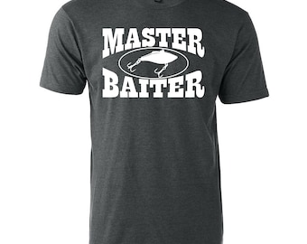 Master Baiter Graphic T-Shirt Funny Fishing Boating