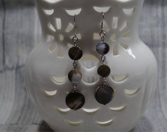 Earrings 'Mother of Pearl ' miracle' Brown