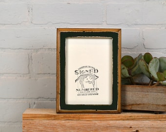 "5x7"" Picture Frame in 1x1 2-Tone Style and in Finish Color of YOUR CHOICE - 5x7 Photo Frame Wooden Rustic - 5 x 7 Handmade"