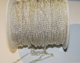 D-02534 - 1m Brass chain silver color 3x5mm