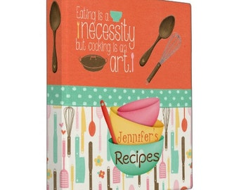 Cooking Is An Art - Personalized Recipe Binder