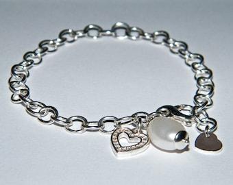925 silver bracelet with pendants
