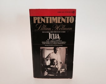 Vintage Pop Culture Book Pentimento / Julia by Lillian Hellman 1974 Movie Tie-In Edition Paperback