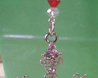 Diamante Cross Bookmark