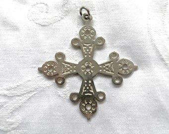 Sterling Maltese Cross Pendant, Sterling Silver Cross, MMA Museum of Modern Art, Vintage Malta Cross Jewelry