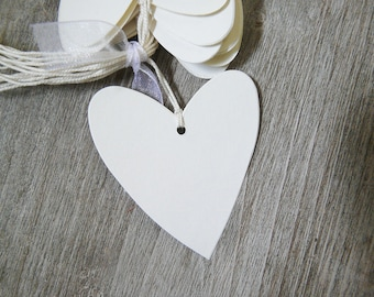 set of 30 labels escord cards, thank you, wedding, baptism, hearts