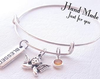 Blessed Bracelet, Guardian Angel Bracelet, Bangle, Bracelet, Angel jewelry, Angel bracelet