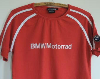Vintage  BMW Motorrad Sports T- Shirt  Rare BMW Road Racing Apparel Motor Cycle Shirt made in Turkey size S