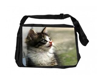Alley Cat Black School Shoulder Messenger Bag