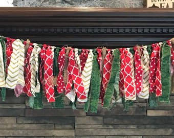 Christmas fabric Garland
