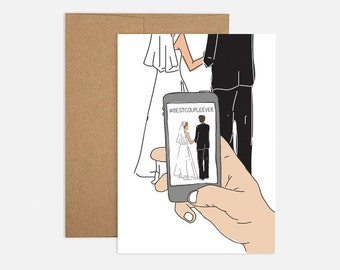 iPhone Wedding Greeting Card