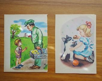 Vintage Children's Book Pages - Children