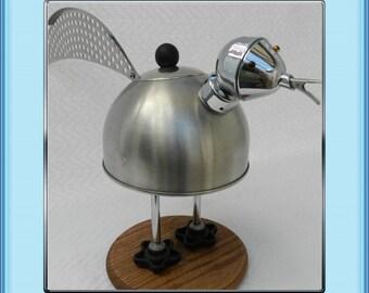 Junk Art-Chicken Little-Assemblage-Robot-Found Object
