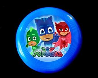 PJ Superheroes - 16 Mini Flying Disks + 16 Watches  -Toys Birthday Prizes Pinata Loot  Supplies masks grab bag