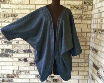 PICK YOUR COLOR - Plus Size Roomy Fleece Jacket/Shrug