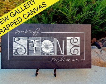 Personalized Alphabet photography - Photo Letter Art - Gallery wrapped Canvas