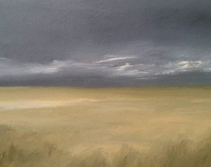 Featured listing image: Prairie Storm - Oil Painting On Carton Board