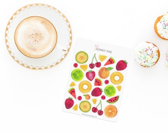 Juicy Fruits Stickerset-Watercolour sticker-Pretty planning-scrapbooking-bullet journaling
