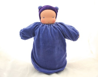 Waldorf weighted baby doll // heavy doll // waldorf toy // Steiner doll // cuddle doll // textile doll // cloth doll // sensory doll