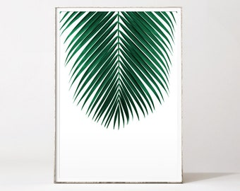 Palm leaf print, palm print, botanical print, palm tree, leaf print, botanical art, tropical art, affiche palmier, affiche tropical, palm