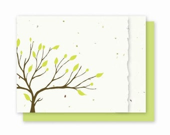 Tree Card // Nature Card / Blank Card // Seed Card // Plantable Paper