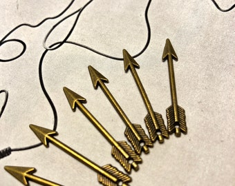 Brass Arrow pendant charm